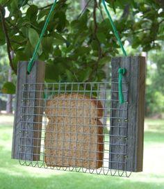 Bread or Toast Bird Feeder Primitive Rustic by PrimitiveWoodworks