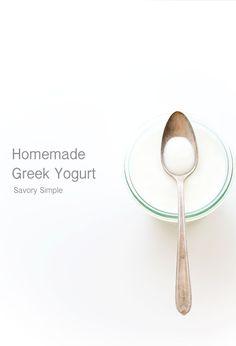 Homemade Greek Yogurt Recipe - Savory Simple