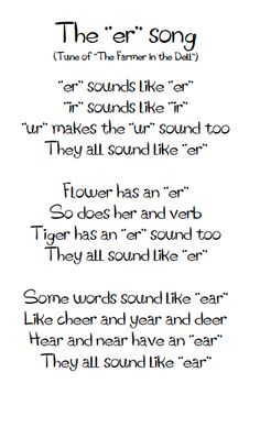 Poem with the er, ir, ur sounds!