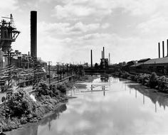 The Mahoning River between the steel mills in Youngstown, Ohio.