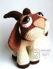 Ravelry: Hopscotch the Goat - Amigurumi pattern by Laura Pavy