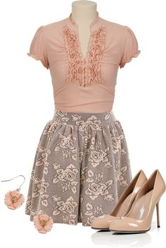 """""""Ruffles & Roses"""" by qtpiekelso on Polyvore"""