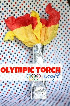 party favors, idea, olymp parti, olymp torch, olymp craft, olympic crafts, beer olymp, torch craft, kid