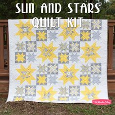 Sun and Stars Quilt KitFeaturing Gray Matters More by Jacqueline Savage McFee - Quilt Kits | Fat Quarter Shop