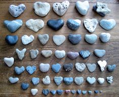 Little heart-shaped rocks.