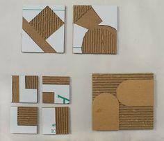 corrug cardboard, studio, printmak techniqu, art ideaz, print cardboard, art teacher, printmaking, elementari art, corrugated art