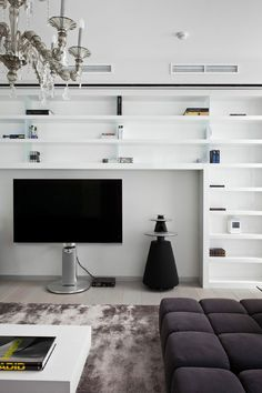 Apartment in Mirax Park by Boris Borovsky Uborevich | HomeDSGN, a daily source for inspiration and fresh ideas on interior design and home decoration.