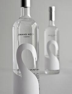 Swan's Neck Vodka Label