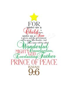 For unto us a child is born....