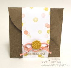 Confessions of a Stamping Addict Gift Enclosure Pack Stampin' Up Gift card holder Lorri Heiling