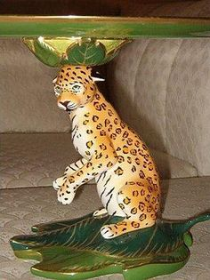 Jaguar Cake Plate Pedestal Base