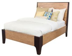 HGTV HOME Furniture - Two-tone Voyage bed - The new HGTV HOME Furniture Voyage Collection, from the design experts at HGTV, offers a fresh casual look in a mix of dark sable and natural finish Mahogany veneers accented with copper hardware. The clean, simple flowing lines were designed to blend perfectly with the Caravan collection to further enhance the eclectic mix-match look. The collection includes bedroom, dining, occasional and accents – Showroom: IHFC C-1200 #hpmkt