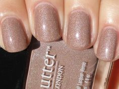 sparkly nude nails. Butter london all hail the queen