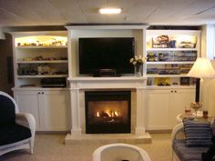 Built in fireplace idea