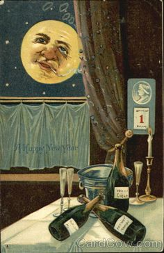 Vintage New Year Postcard.