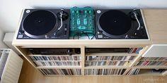 DIY Ikea Music / DJ shelf
