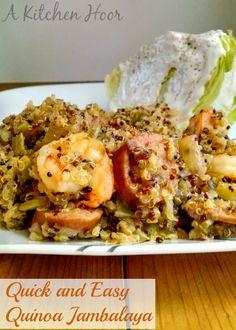 Quick and Easy Quinoa Jambalaya on MyRecipeMagic.com
