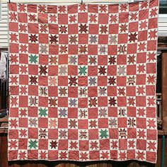 Antique 1800's Civil War Era Rustic Star Quilt | eBay, whisper-hill