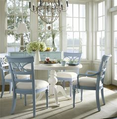 Flexible and multifunctional, this round pedestal table and open back chairs dining set can be used in a formal dining room or a more casual kitchen dining space for everyday use.