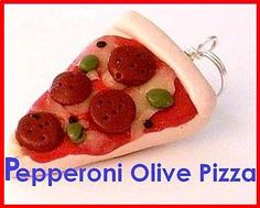 Polymer Clay Pizza Charm by CharmthisClayCharms on Etsy, $3.00