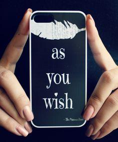 Princess Bride iPhone Case Black  Quote iPhone by NeverMorePrints, $35.00