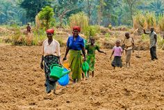 The 2014 IYFF will promote broad discussion and cooperation at the national, regional and global levels to increase awareness and understanding of the challenges faced by smallholders and help identify efficient ways to support family farmers. Here are families returning from the fields in Buzimba, Bururi province.