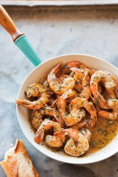 Garlicky Shrimp Scampi