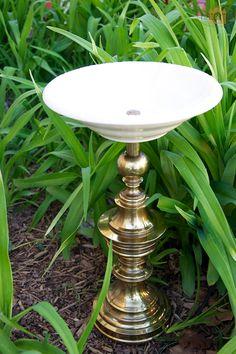 Make-it-yourself lamp/birdbath
