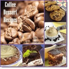 Recipes that use coffee as the main flavoring.