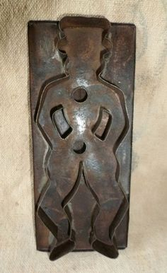 Great 19th Century Folk Art Tin Cookie Cutter of Man in Hat Antique Primitive | eBay