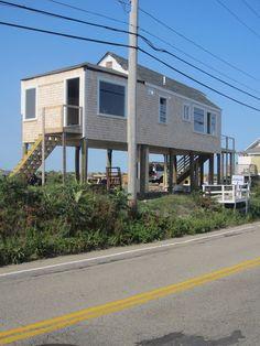 Beach house on stilts  Hull MA