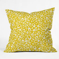Heather Dutton Molecular Yellow Throw Pillow | DENY Designs Home Accessories