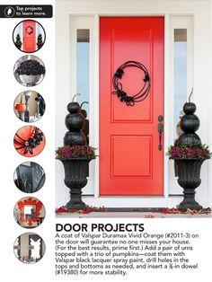 Diy Black Halloween wreath, from Lowe's Creative Ideas Mag