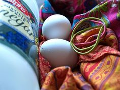 silk scarves and eggs
