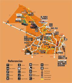 Mapa turistico de Chaco, Argentina