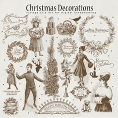 Vintage Christmas Illustrations $2