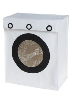 Fun washing machine shaped laundry hamper