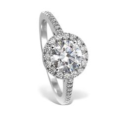 Perf....  Mark Patterson Platinum and Diamond Enagement Ring - Halo Style - R.F. Moeller Jeweler