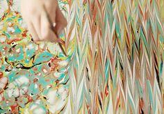 Fabric Paint Marbling DIY