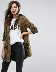 Missguided Khaki Emb