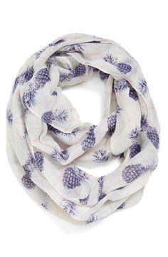 Leith 'Prism Pineapples' Oversized Infinity Scarf @Nordstrom