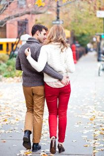 red pants galleries, red jeans, autumn, engagements, engag shoot, new york wedding, photography, brooklyn, red pants