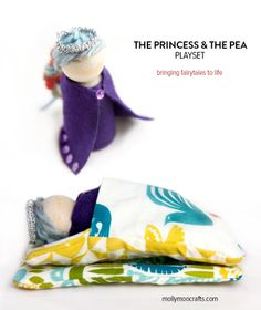 The Princess and The Pea Storytelling Craft & Play Set | @Stephanie Stanesby for mollymoocrafts.com
