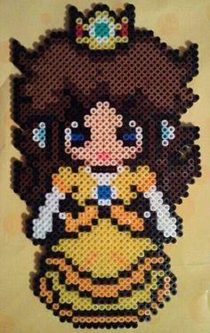 Princess Daisy perler beads