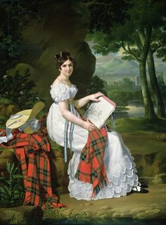 Woman Sketching in a Landscape, c.1830 (oil on canvas) creator Austrian School, (19th century) nationality Austrian location Sterling & Francine Clark Art Institute, Williamstown, Massachusetts, USA medium oil on canvas date 19th (C19th)
