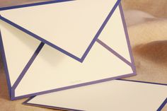 Lapis Border Card & Envelope: The perfect match is always admired. Bordered in dreamy blue, this card and envelope are a smart choice for any occasion.