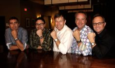 Five friends, all pastors, share their love of watches. (From left to right) Chuck Colegrove wears a Breitling Superocean, Hector Sotos wears a TAG Heuer Carrera Chronograph, Nathan Keller wears a Breitling Colt GMT, Scott Jones wears a Panerai 8 Days GMT, and Kevin Herrin wears a Baume & Mercier Spirit.