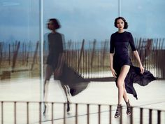Fei Fei Sun by Peter Lindbergh for Vogue US, March 2014