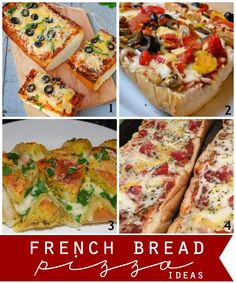 Quick and easy french bread pizza ideas! Fun idea for the whole family!