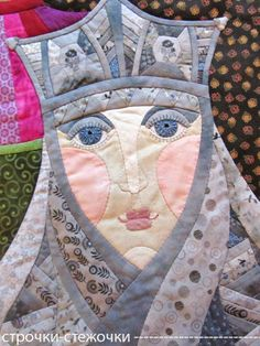"Silver Princess - Jaroslavna, in: ""Three Princesses of the Underworld"" patchwork quilt by Natalia Muraveva (Russia)"
